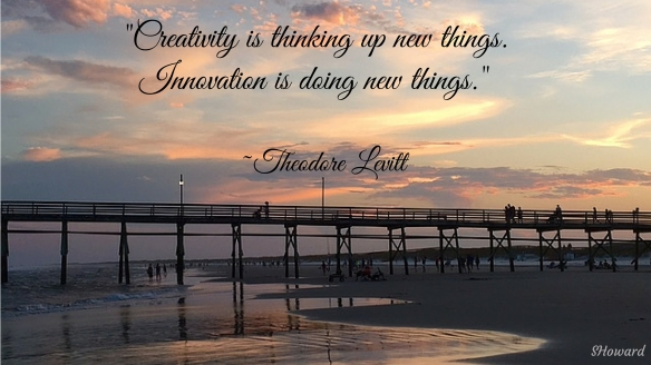 Creativity is thinking up new things.